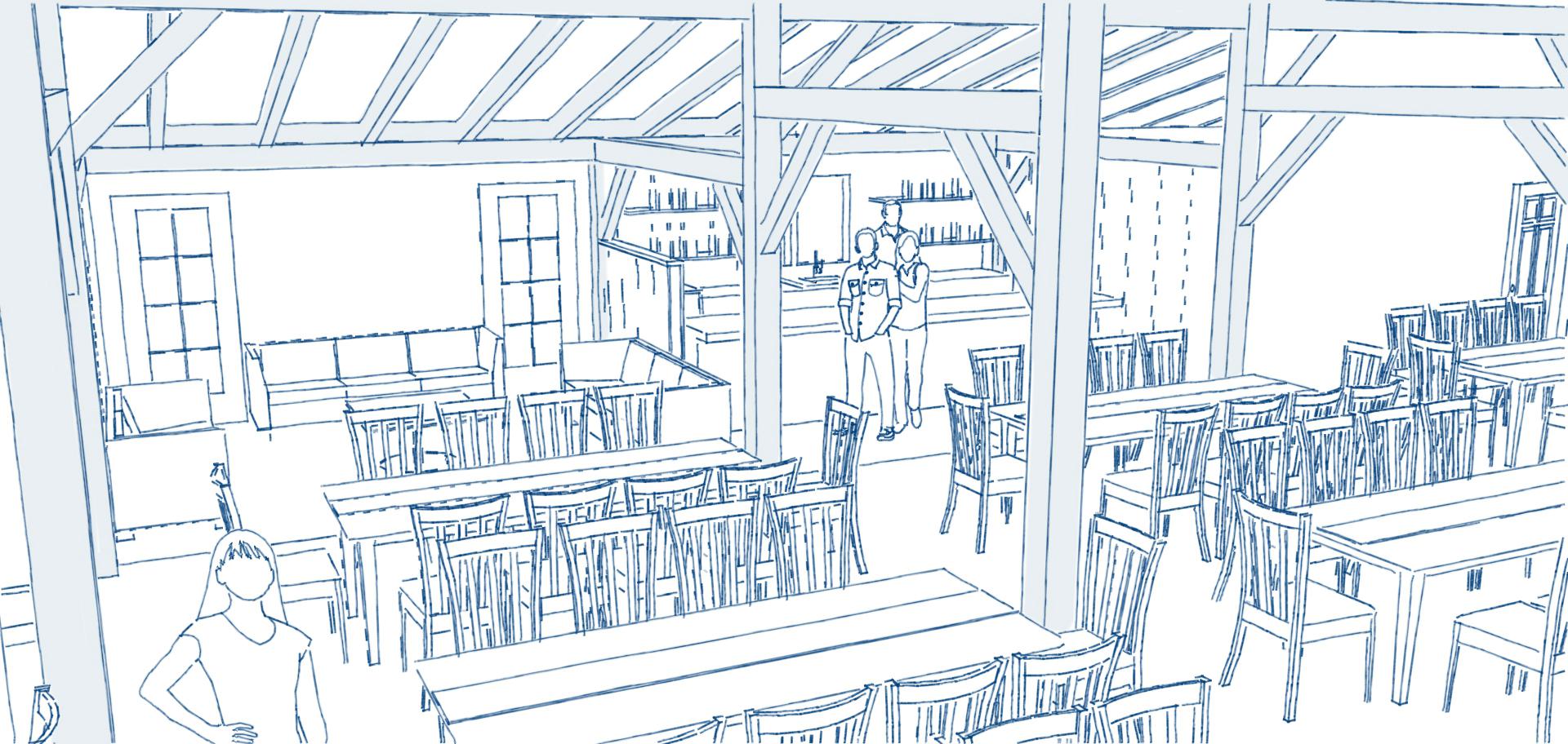 barn lights lounge and bar areas
