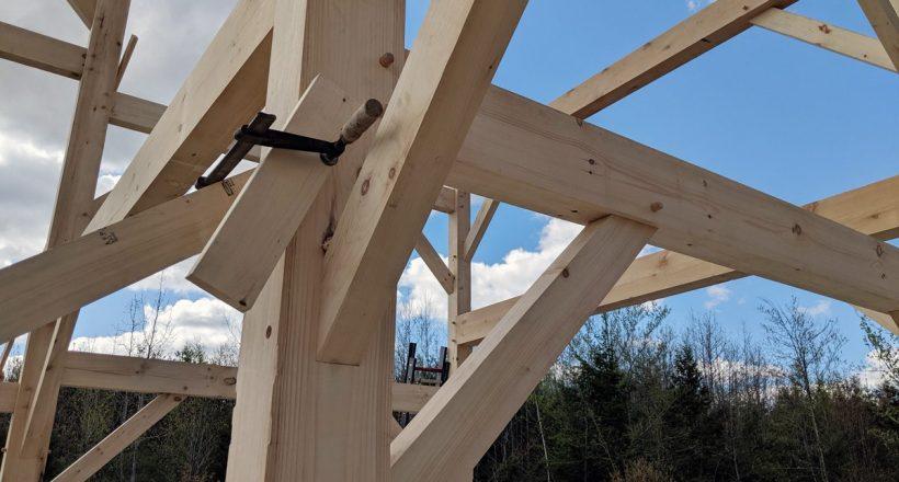barn raising week at Barn Lights - joinery