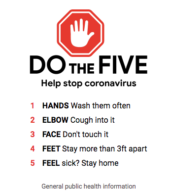 Google published this helpful graphic, DO THE FIVE