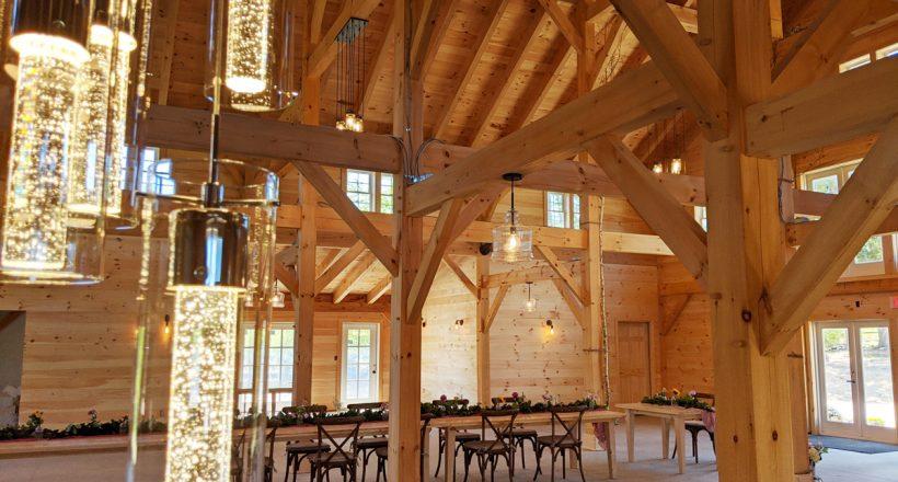 barn lights tables bar angle