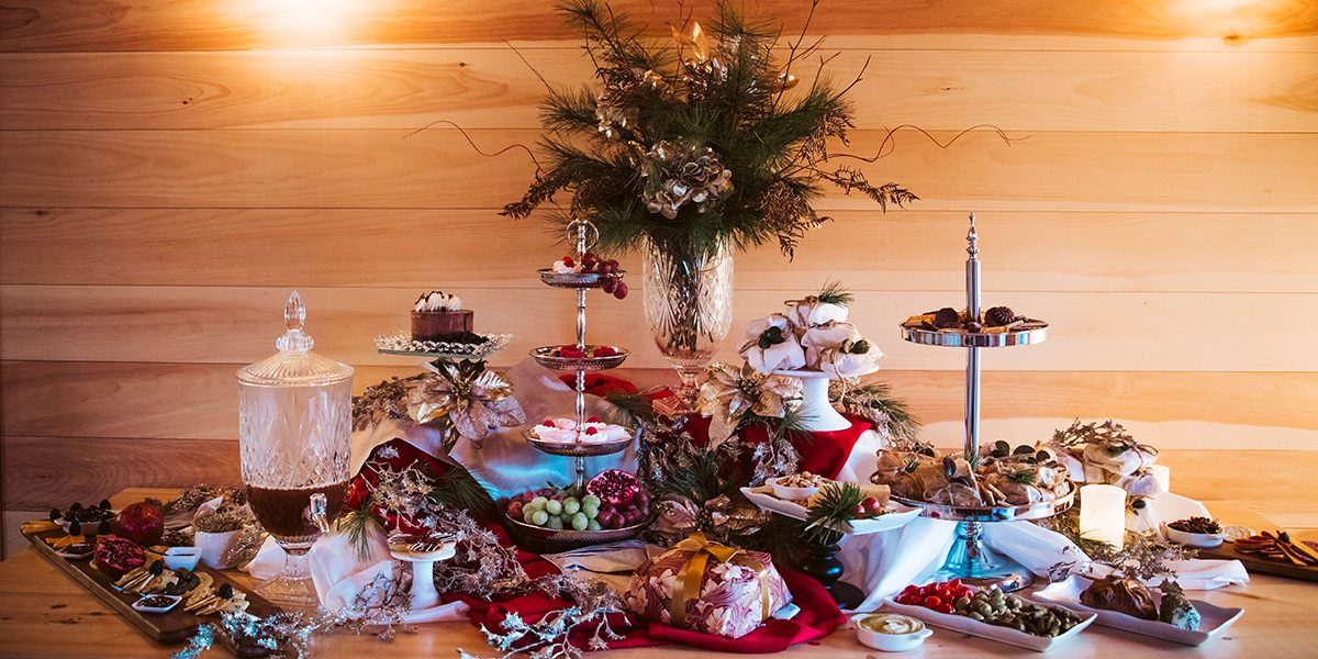 Barn Lights Catering display Christmas 2020