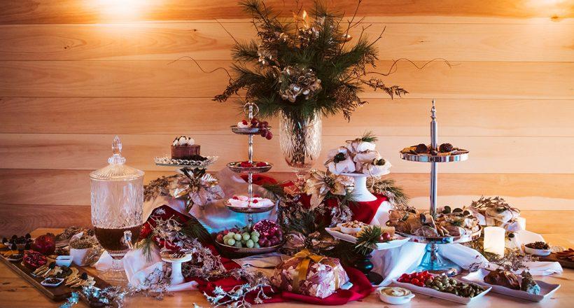 Barn Lights Catering display Christmas 2020