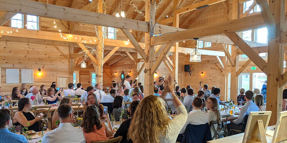 barn lights main hall for weddings